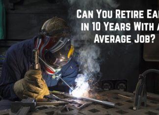 Retiring Early on Average Income in 10 Years